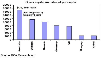 Gross capital investment per capita